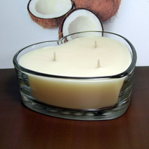 Coconut PURE SOY Heart Container Candle - $12.50