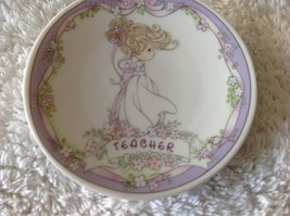 Wall plate decorative Teacher design, Precious Moment - $7.50