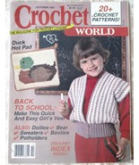 Crochet World, Oct, 1987-- Back Issue, Volume 10, Number 4, Vintage maga... - $5.00