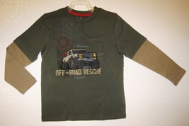 BOYS 7 - Jumping Beans - Off-Road Rescue Layered Look SHIRT image 2