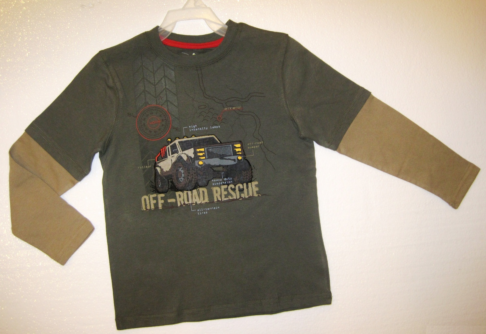 BOYS 7 - Jumping Beans - Off-Road Rescue Layered Look SHIRT