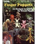 Finger Puppets Horse Giraffe Elephant 12 Designs LA435 Crochet Pattern L... - $8.97