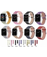 Glitter Leather 38mm 40mm 42mm 44mm Replacement Band Strap For Apple Wat... - $7.69+