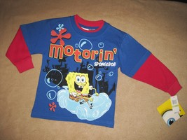 BOYS 4 - Nickelodeon - Motorin' Spongebob Squarepants Long-sleeved SHIRT - $8.99