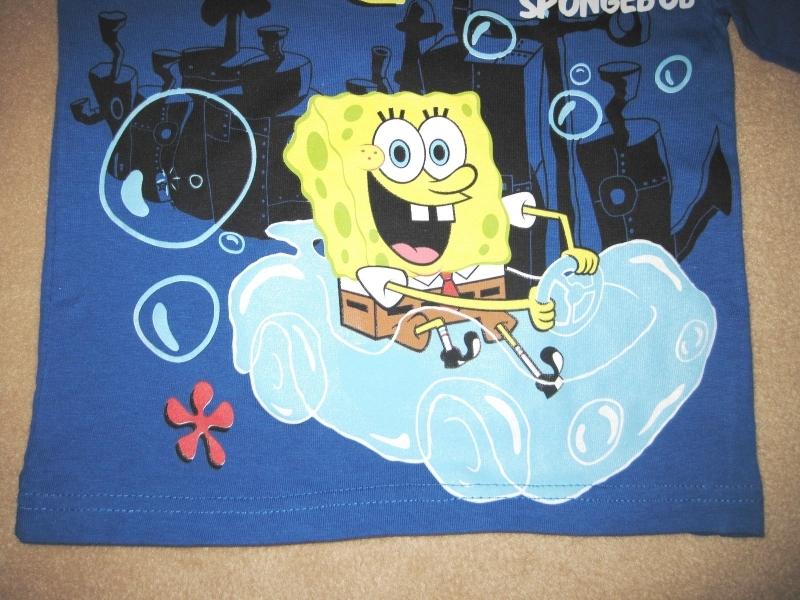 BOYS 4 - Nickelodeon - Motorin' Spongebob Squarepants Long-sleeved SHIRT
