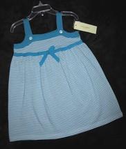 GIRLS  3T - LUCY SYKES - Aqua & White DESIGNER SUNDRESS - $13.37
