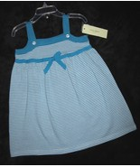 GIRLS  3T - LUCY SYKES - Aqua & White DESIGNER SUNDRESS - $13.37