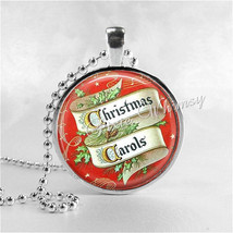 Vintage Christmas Carols Necklace, Christmas Carols, Christmas Necklace, Christm - $9.95