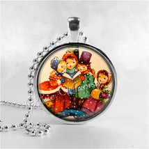 Vintage Christmas Carolers Necklace, Christmas Carols, Christmas Necklace, Chris - $9.95
