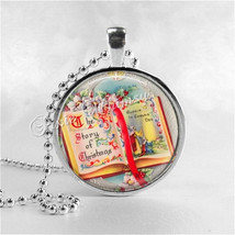 VINTAGE CHRISTMAS Necklace, Story of Christmas Book, Christmas Story,Christmas N - $9.95