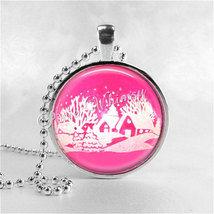 PINK SHINY BRITE Ornament Necklace, Vintage Shiny Brite Ornaments, Vinta... - $9.95
