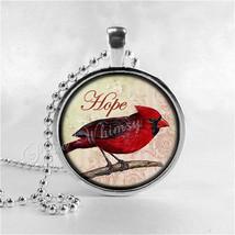 CARDINAL Necklace, Cardinal Bird Necklace, Cardinal Jewelry, Red Bird, H... - $9.95