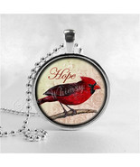 CARDINAL Necklace, Cardinal Bird Necklace, Cardinal Jewelry, Red Bird, H... - $9.95