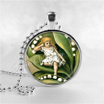 LILY Of The VALLEY Pendant, Thumbelina, Lily of the Valley Necklace, Lil... - $9.95