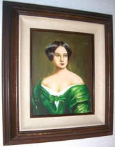 RARE SIGNED GARCIA PORTRAIT OF A LATINO WOMAN PAINTING - $2,553.99