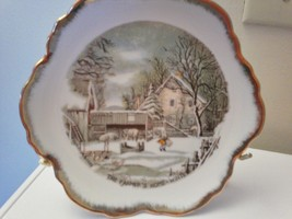 "CURRIER & IVES ""THE FARMERS HOME WINTER"" COLLECTABLE PLATE - $5.14"