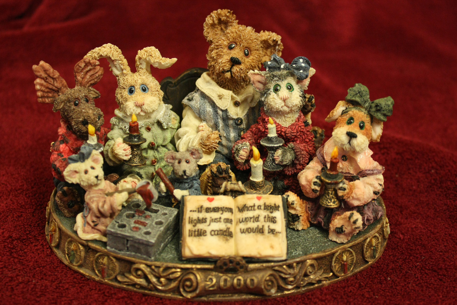 """Boyds Bear """"Light a Candle for a Brighter World"""" Bearstone Collection - $19.99"""