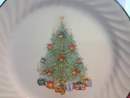 "Corelle Holiday Magic (2) Dessert Plates 7"" Swirled Christmas Tree Prese... - $12.99"