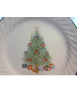 "Corelle Holiday Magic (2) Dessert Plates 7"" Swirled Christmas Tree Prese... - $12.99"