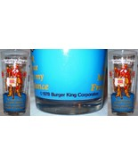 Burger King Glass The Marvelous Magical Burger King Blue - $8.00