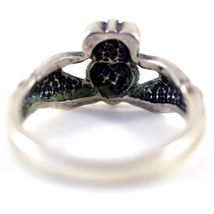 925 Sterling Silver Irish Claddagh Hands Holding Heart Love Friendship Ring 5.75 image 3