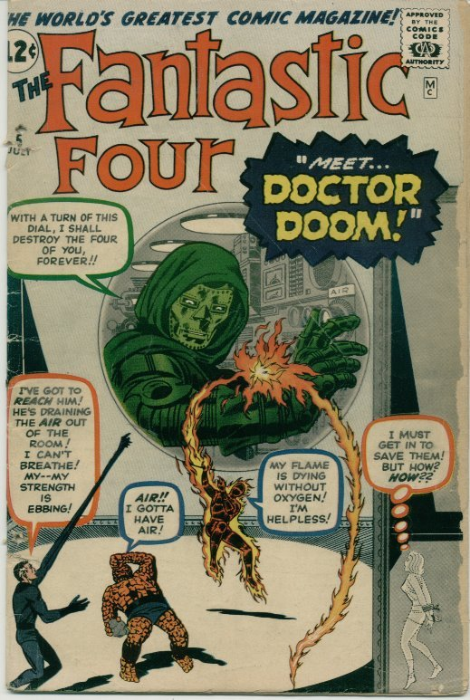 Fantastic Four (1961) # 5 GOOD Condition Marvel Comics
