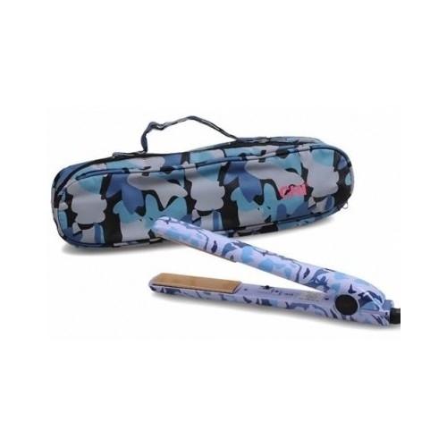 "New Chi 1"" Blue Camo Ceramic Flat Iron Hair Straightener  Camouflage Ltd Edition"