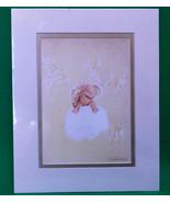 """1995 Anne Geddes Matted 8"""" X 10"""" Photo Print Cherub Baby - $6.95"""