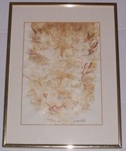 RARE T. MARKELL MIXED MEDIA OCEAN FLORA COLLAGE FLORIDA - $288.18