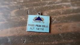 Vintage Enamel 2.1cm PIKES PEAK COLORADO Charm - $10.89