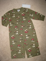 BOYS 3-6 MONTHS - Gymboree - Snowmen, ChristmasTrees & Trucks on Green P... - $16.99