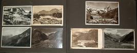 WWII Antique Postcard Album Europe Italy Salerno Merano Paestum Belgium France  image 2