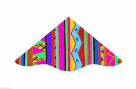 "42"" DELUX DELTA NYLON FLYING IN THE WIND KITE W/ LINE, WINDER, & SKYTAIL... - $19.45"