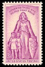1957 3c March of Dimes, Fight Polio Scott 1087 Mint F/VF NH - $0.99