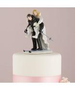 Winter Skiing Wedding Couple Figurine Cake Topp... - $38.95