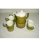 RETRO 5PC TEAPOT & CUPS CERAMIC SET MADE IN JAPAN - $85.49