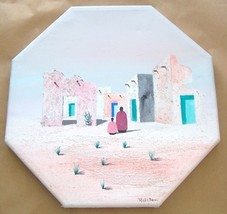 ROLSTON PUEBLO INDIAN VILLAGE CANVAS ART PAINTING - $484.14