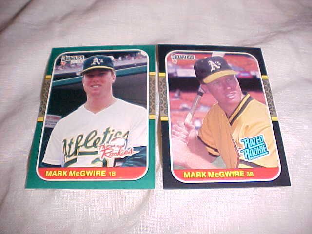 Primary image for 2 - 1987 DONRUSS ROOKIES MARK MCGWIRE
