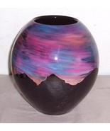 Ralph Rankin Ceramic Handmade & Painted Designed Vase - $337.90