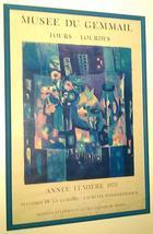 Rare 1973 Musee Du Gemmail tours lourdes annee lumiere exhibition poster... - $430.88