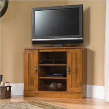 Sauder Harvest Mill Corner Entertainment TV Stand Furniture Media Storag... - $179.00
