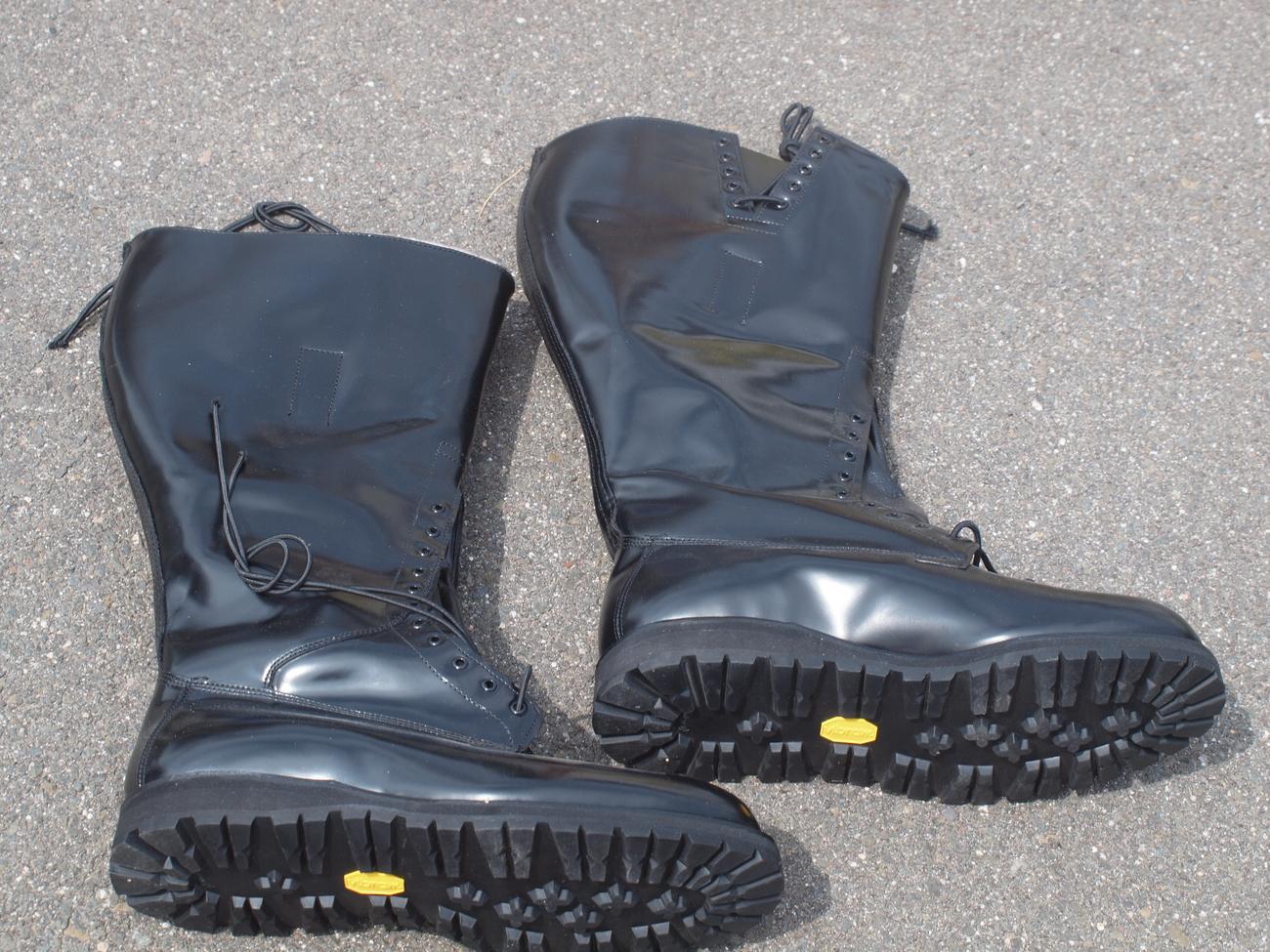 Official alden police motorcycle boots 10 eeeee boots Police motor boots
