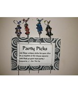 Unique Handmade Metal & Decorated Party Picks~ Cocktail Hors d'Oeuvres M... - $14.84