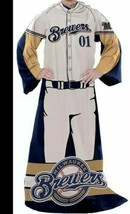 """Milwaukee Brewers ~ Officially Licensed Comfy Throw Blanket ~ 48"""" x 71"""" - $30.40"""