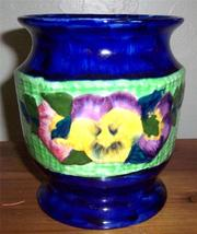 Ringstons Ltd Ceramic Viola Hand Painted Vase by Maling Ware Made In Eng... - $216.38