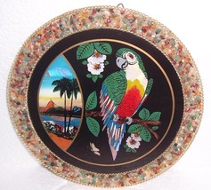 Rio Brazil Parakeet Designed  & Handcrafted Wall Plaque Signed - $74.64