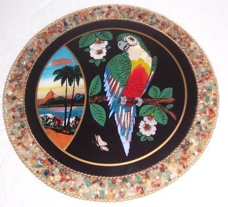 Rio Brazil Parakeet Designed  & Handcrafted Wall Plaque Signed