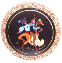Rio Samba Brazil Designed  & Handcrafted Wall Plaque Signed - $84.39