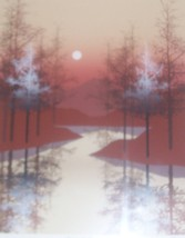 "S/N JAMES HAGAN ""SPRING HILL"" SILKSCREEN ART PRINT COA - $338.24"