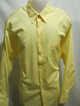 ARROW Wrinkle Free Mens Dress Shirt 17-17.5 34/35 XL,Light Yellow,Long S... - $14.86